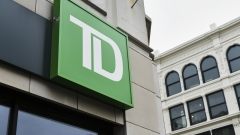 Signage is displayed outside a TD Ameritrade Holding Corp. bank branch in New York, New York, US.