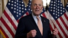 Senate Minority Leader Chuck Schumer, a Democrat from New York, speaks before H.R. 3877, the Bipartisan Budget Act of 2019, is signed at the U.S. Capitol in Washington, D.C., U.S., on Thursday, Aug. 1, 2019. The Senate sent President Donald Trump legislation to extend the debt limit and allow more government spending until after next year's election, a bipartisan deal that drew opposition from some who expressed concern about the deficit. Photographer: Andrew Harrer/Bloomberg