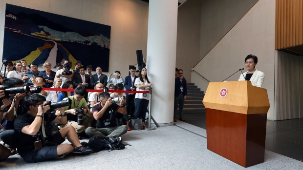 Beijing says it 'firmly' supports Hong Kong leader