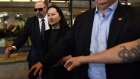 Meng Wanzhou, chief financial officer of Huawei Technologies Co., leaves the Supreme Court following
