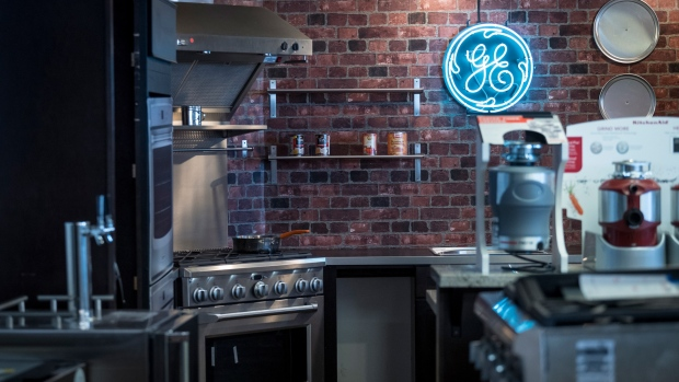 General Electric Corp. (GE) home appliances are displayed for sale at the Airport Home Appliance store in San Jose, California, U.S., on Tuesday, July 30, 2019. The U.S. Census Bureau is scheduled to release durable goods orders on August 2.