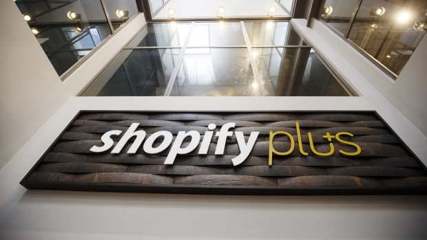 Signage is displayed at the shopify inc office in waterloo ontario sept 13 2018 bloomberg cole
