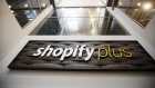 Signage is displayed at the Shopify Inc. office in Waterloo, Ontario, Sept. 13, 2018. Bloomberg/Cole