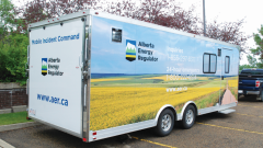 The Alberta Energy Regulator's mobile incident command.