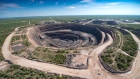 An aerial shot of Lucara's state-of-the-art Karowe Mine located in Botswana.