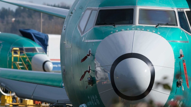 RENTON, WA - MARCH 11: A Boeing 737 MAX 8 is pictured outside the factory on March 11, 2019 in Renton, Washington. Boeing's stock dropped today after an Ethiopian Airlines flight was the second deadly crash in six months involving the Boeing 737 Max 8, the newest version of its most popular jetliner. (Photo by Stephen Brashear/Getty Images)s