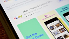 The eBay Inc. application is seen in the App Store on an Apple Inc. iPhone in this arranged photograph taken in Tiskilwa, Illinois, U.S., on Monday, April 16, 2018.
