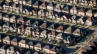 Homes stand in this aerial photograph taken above Toronto, Ontario, Oct. 2, 2017.