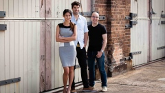 Canva founders Melanie Perkins, Cliff Obrecht and Cam Adams. Image courtesy of Canva Inc.