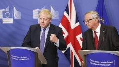 Boris Johnson, U.K. prime minister and Jean-Claude Junckep, resident of the European Commission