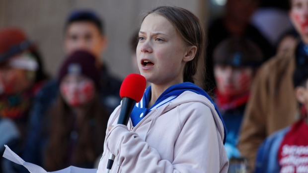Thunberg calls for climate action in oil-rich Alberta
