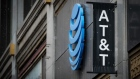 Signage is displayed outside an AT&T Inc. store in Chicago, Illinois, U.S., on Thursday, Jan. 24, 2019. AT&T is scheduled to release earnings figures on January 30.