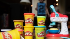 Hasbro Inc. Play-Doh brand modeling compound is arranged for a photograph in Atlanta, Georgia U.S., on Saturday, July 20, 2019. Hasbro Inc. is scheduled to release earnings figures on July 23.