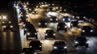 Vehicles drive in traffic down the 405 freeway at night in Inglewood, California, U.S., on Thursday, Sept. 19, 2019. The Trump administration moved to strip California of its authority to limit greenhouse gas emissions from vehicles, even as it warned the state it needs to do more to combat smog.
