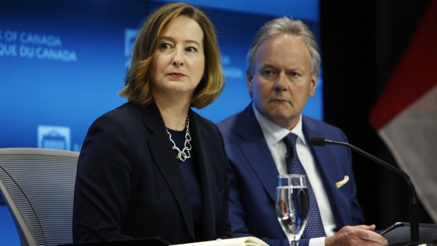 Stephen Poloz, governor of the Bank of Canada and Carolyn Wilkins, senior deputy governor
