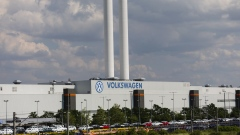 The Volkswagen AG manufacturing plant stands in Zwickau.