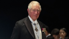 Prince Charles, Prince of Wales, arrives for the banquet after the enthronement ceremony at the