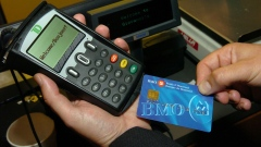 First INTERAC point-of-sale chip debit card transaction conducted by a BMO Bank of Montreal employee
