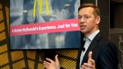 Chris Kempczinski speaks during a presentation at a McDonald's restaurant in New York's Tribeca neig