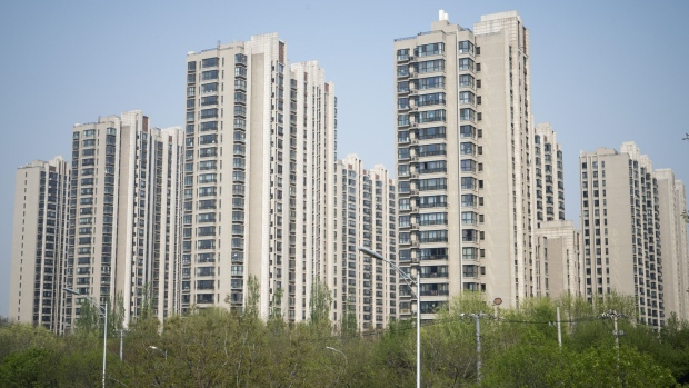 Residential buildings stand in the Taiyanggong area of Beijing, China, on Monday, April 16, 2018. New home prices in Beijing and Shanghai have jump more than 25 percent over the last two years.