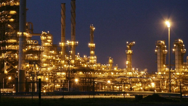 A night view of Ameriven oil refinery, one of the four companies at the Jose Complex in Anzoategui state, 200 miles East from Caracas, Venezuela, on Thursday, Sept. 13, 2007.