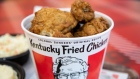 A bucket of fried chicken is arranged for a photograph at a Yum! Brands Inc. Kentucky Fried Chicken (KFC) restaurant in Norwell, Massachusetts, U.S., on Thursday, July 25, 2019. Yum! Brands is scheduled to release earnings figures on August 1.