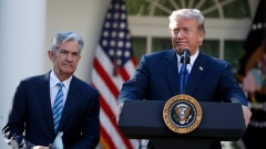 Donald Trump Jerome Powell Nov. 2, 2017. AP Photo