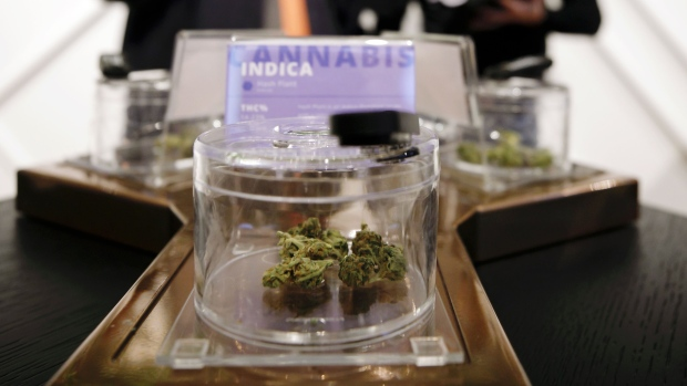 Cannabis sits on display at The Hunny Pot Cannabis Co. dispensary in Toronto, Ontario, April 1, 2019