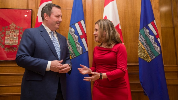 Chrystia Freeland and Jason Kenney