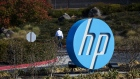 Signage is displayed outside HP Inc. headquarters in Palo Alto, California, U.S., on Thursday, Nov. 7, 2019. HP's board is still deliberating over a $33 billion takeover proposal from Xerox Holdings Corp., people familiar with the matter said, adding uncertainty to a potential blockbuster deal that would reshape the printing industry.