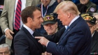 Emmanuel Macron and Donald Trump.