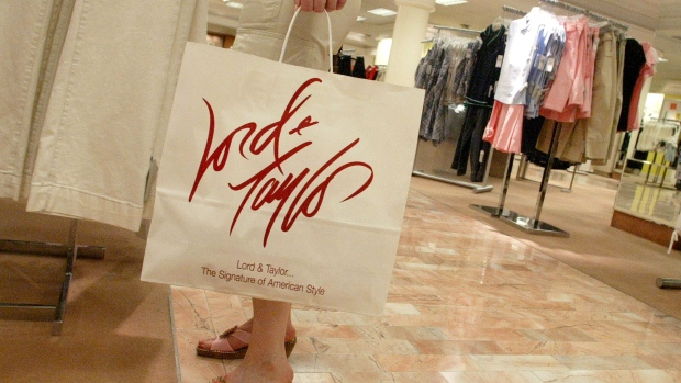 A shopper at a Lord & Taylor store.