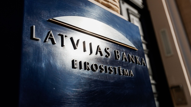 Latvijas Banka, Latvia's central bank, stands in Riga, Latvia, on Thursday, Feb. 22, 2018. Latvia, a regional banking hub abutting Russia, has long faced questions over its enforcement of money-laundering rules.