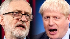 In this composite image a comparison has been made between Jeremy Corbyn, Labour Leader (L) and Boris Johnson, Prime Minister and Conservative Leader.