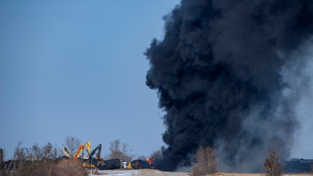 Emergency crew respond to CP Rail train