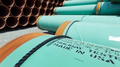 Pipes intended for the Keystone XL pipeline sit in storage in Little Rock, Ark. May 24, 2012.