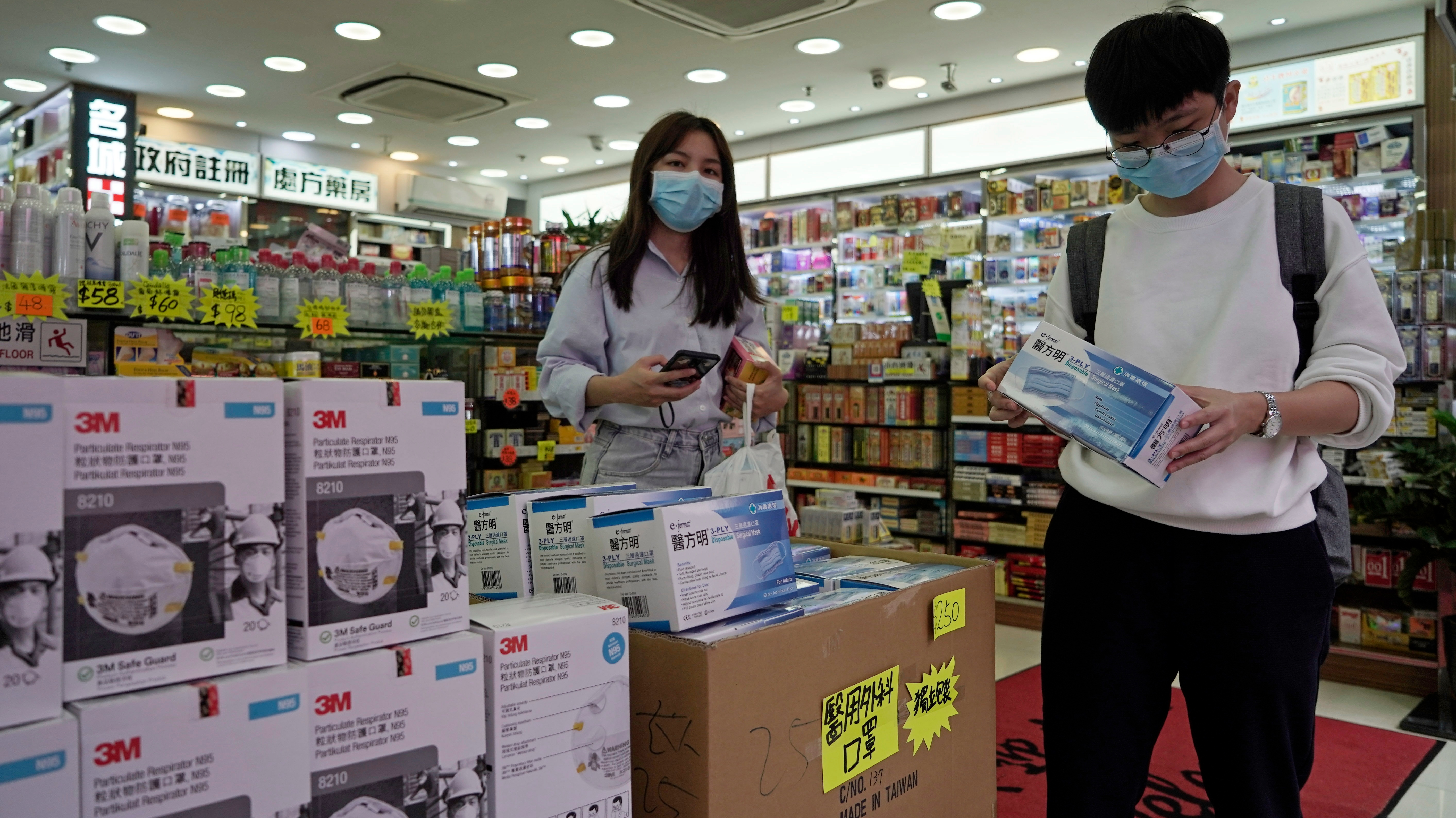 Face Spurs Hong Panic - Masks Bnn Kong In Virus Buying Bloomberg Of
