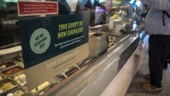 "A restaurant sign alerts customers that it's ""now cashless,"" Thursday Jan. 23, 2020, in New York."