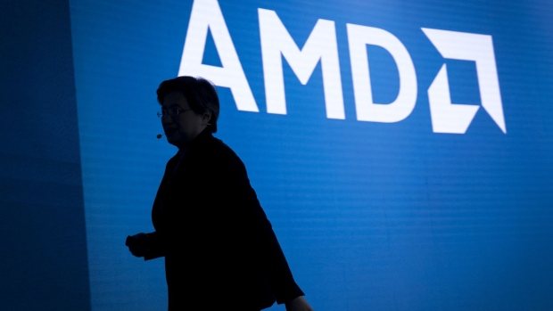 AMD CEO Lisa Su during a launch event in San Francisco. Photographer: David Paul Morris/Bloomberg