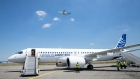 Unveiling of an Airbus A220-300 aircraft in Colomiers (near Toulouse), France, on Tuesday, July 10,
