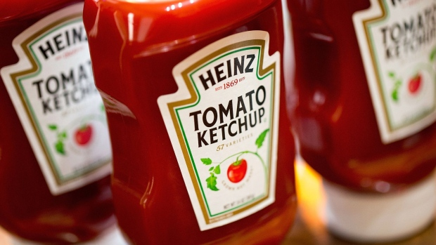 CHICAGO, IL - MARCH 25: In this photo illustration, Heinz Tomato Ketchup is shown on March 25, 2015 in Chicago, Illinois. Kraft Foods Group Inc. said it will merge with H.J. Heinz Co. to form the third largest food and beverage company in North America with revenue of about $28 billion. (Photo Illustration by Scott Olson/Getty Images) Photographer: Scott Olson/Getty Images North America