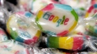GETTY IMAGES EUROPE - Pieces of candy featuring the Google logo