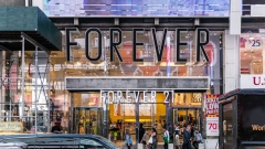 A Forever 21 Inc. store stands in the Times Square neighborhood of New York, U.S., on Thursday, Aug. 29, 2019. Forever 21 Inc. is preparing for a potential bankruptcy filing as the fashion retailer's cash dwindles and turnaround options fade, according to people with knowledge of the plans. Photographer: Jeenah Moon/Bloomberg