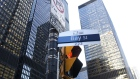 "A ""Bay Street"" sign is displayed in the financial district of Toronto, Ontario, Canada, on Friday, F"