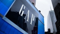 Gap Inc. signage is displayed outside a store in the Times Square area of New York. Photographer: Mark Kauzlarich/Bloomberg