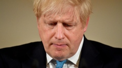 Boris Johnson, U.K. prime minister, reacts during a daily coronavirus briefing inside number 10 Downing Street in London, U.K., on Thursday, March 19, 2020.