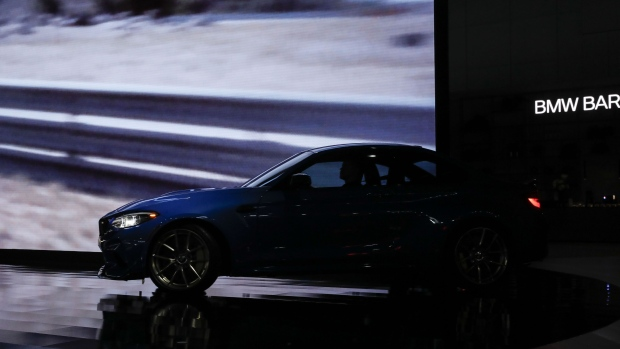 The 2019 Bayerische Motoren Werke AG (BMW) M2 CS vehicle is displayed during AutoMobility LA ahead of the Los Angeles Auto Show in Los Angeles, California, U.S., on Wednesday, Nov. 20, 2019. Engines are taking a back seat to motors at this year's Los Angeles Auto Show as carmakers showcase the latest electric additions to their vehicle lineups. Photographer: Patrick T. Fallon/Bloomberg