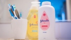 Johnson's baby powder is arranged for a photograph in Hastings on Hudson, New York, U.S., on Tuesday, Jan. 14, 2020. Johnson & Johnson is scheduled to release earnings figures on January 22. Photographer: Tiffany Hagler-Geard/Bloomberg