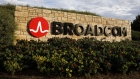 Signage is displayed outside of Broadcom Ltd. headquarters in Irvine, California, U.S., on Monday, Nov. 6, 2017.