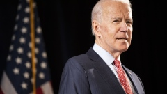 Former Vice President Joe Biden, 2020 Democratic presidential candidate, speaks during a news conference in Wilmington, Delaware, U.S., on Thursday, March 12, 2020. Biden sought to deliver an antidote to President Donald Trump's response to the coronavirus outbreak on Thursday, unveiling a new plan that shows how he would fight the spread of the virus and urging the administration to use it.